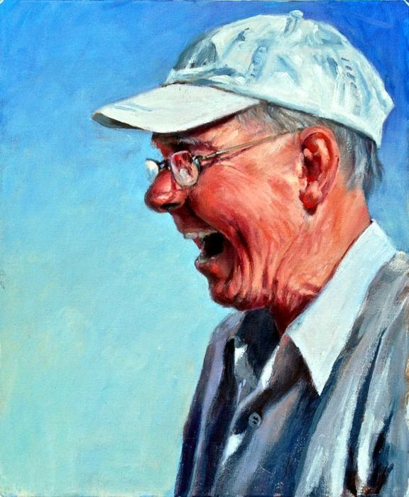 Peter laughs - Oil - 25 x 31cm